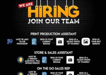 Print Production Assistant, Store Assistant, Sales Assistant, Sales Representative, Jobs, Barbados