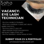 Eye Lash Technician, Barbados, Jobs