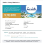 Executive Housekeeper, Landscaping Manager, Chief Engineer, Assistant Watersports Manager, Sous Chef, Laundry Technician, Photographer, Room Attendant, Houseman, Watersports Attendant, Butler, Concierge, Steward, Jobs, Barbados