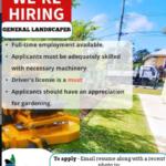 General Landscaper, Barbados, Jobs