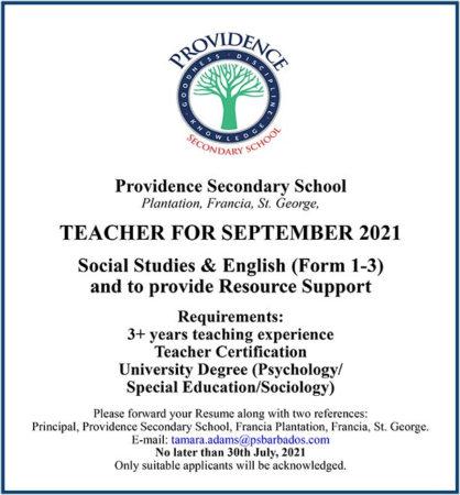 Teacher, Job, Barbados