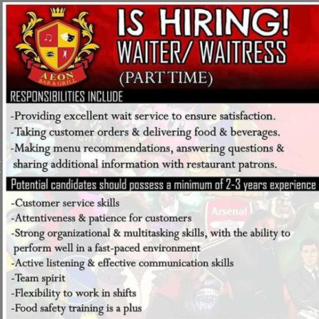 Aeon Bar, Barbados, Jobs