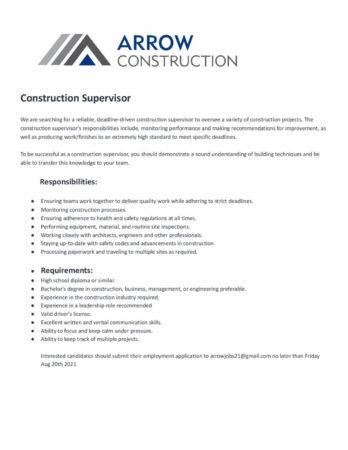 Construction Supervisor, Barbados, Jobs