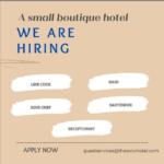 The Soco Hotel, Barbados, Jobs