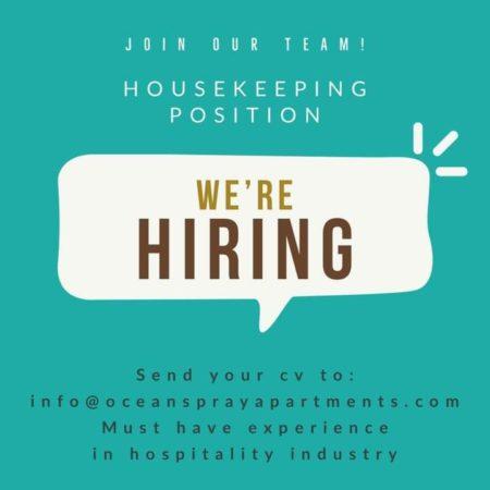 Housekeeping, Barbados, Jobs
