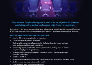 Marketing & Branding, Barbados, Jobs