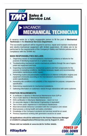 Mechanical Technician job in Barbados