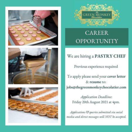 Pastry Chef Job, Barbados