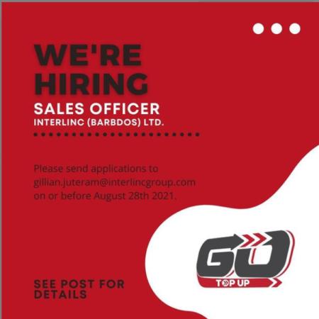 Sales Officer Job, Barbados