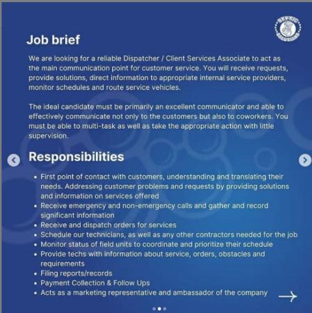 Septic Solutions, Job Brief, Barbados