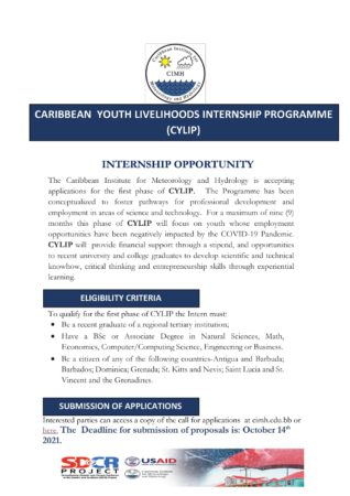internship posting in Barbados