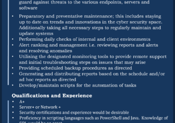 Monitoring Specialist job in Barbados