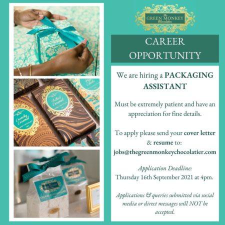 Packaging Assistant job in Barbados