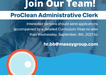 ProClean Administrative Clerk job in Barbados