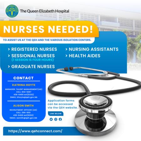 Nurses jobs available in Barbados