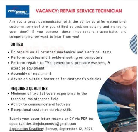 Repair Service Technician job in Barbados