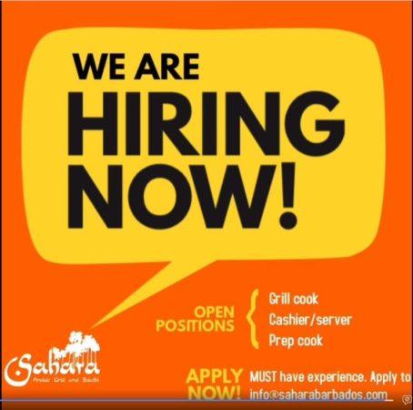 Restaurant jobs at Sahara Barbados