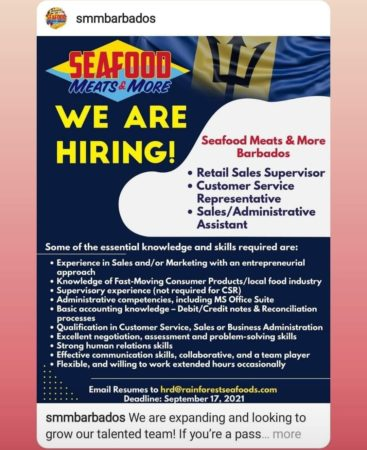 Seafood Meats & More jobs in Barbados