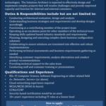 Solutions architect job in Barbados