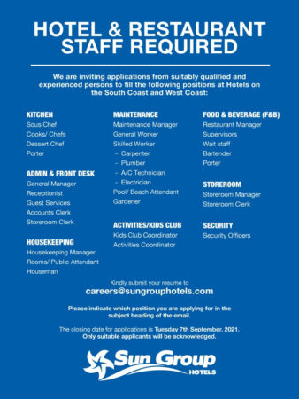 Sun Group Hotels jobs in Barbados