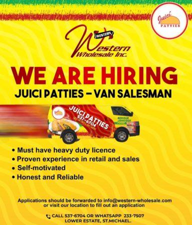 Van Salesman job at Western Wholesale Inc. Barbados