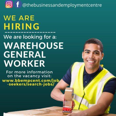 warehouse general worker job in barbados