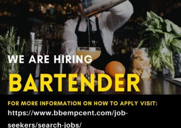 bartender job barbados
