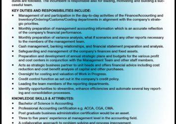 finance manager job barbados