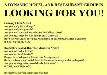 hotel restaurant jobs barbados