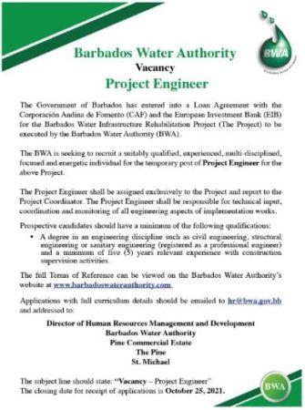 engineer job barbados