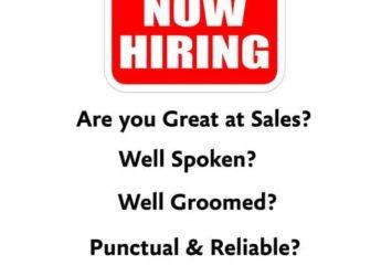 sales job barbados